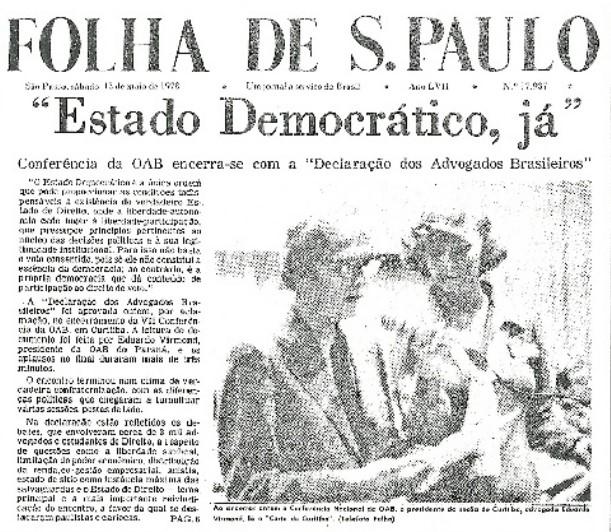 Os movimentos sociais e a ditadura brasileira (1964-1985): considerações sobre a participação da Ordem dos Advogados do Brasil – OAB